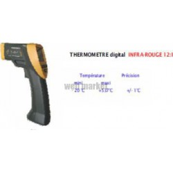 THERMOMÈTRE PISTOLET DBLE VISEE LASER INFRA RGE -50° +450°C