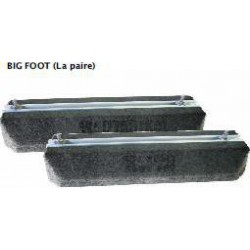 PAIRE DE SUPPORTS RUBBER FOOT 600MM 600KG