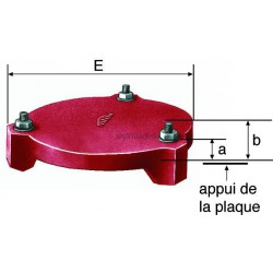 PLAQUE HERMETIQUE FONTE -KIT- 125 207458