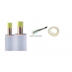 KIT INSTALLATION COMPLET CUIVRE 1/4-3/8 ISOLE M1 LONG(M): 2