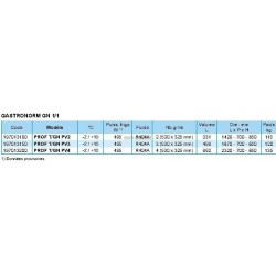 TABLE REFRIGERATION POSITIVE PROF T/GN PV2