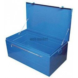 CANTINE METALL BLEUE 75X37X27