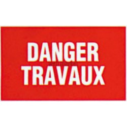 PLAQUE DANGER TRAVAUX GA21 404