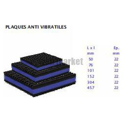 PLAQUE ANTI VIBRATION 100X100X22MM